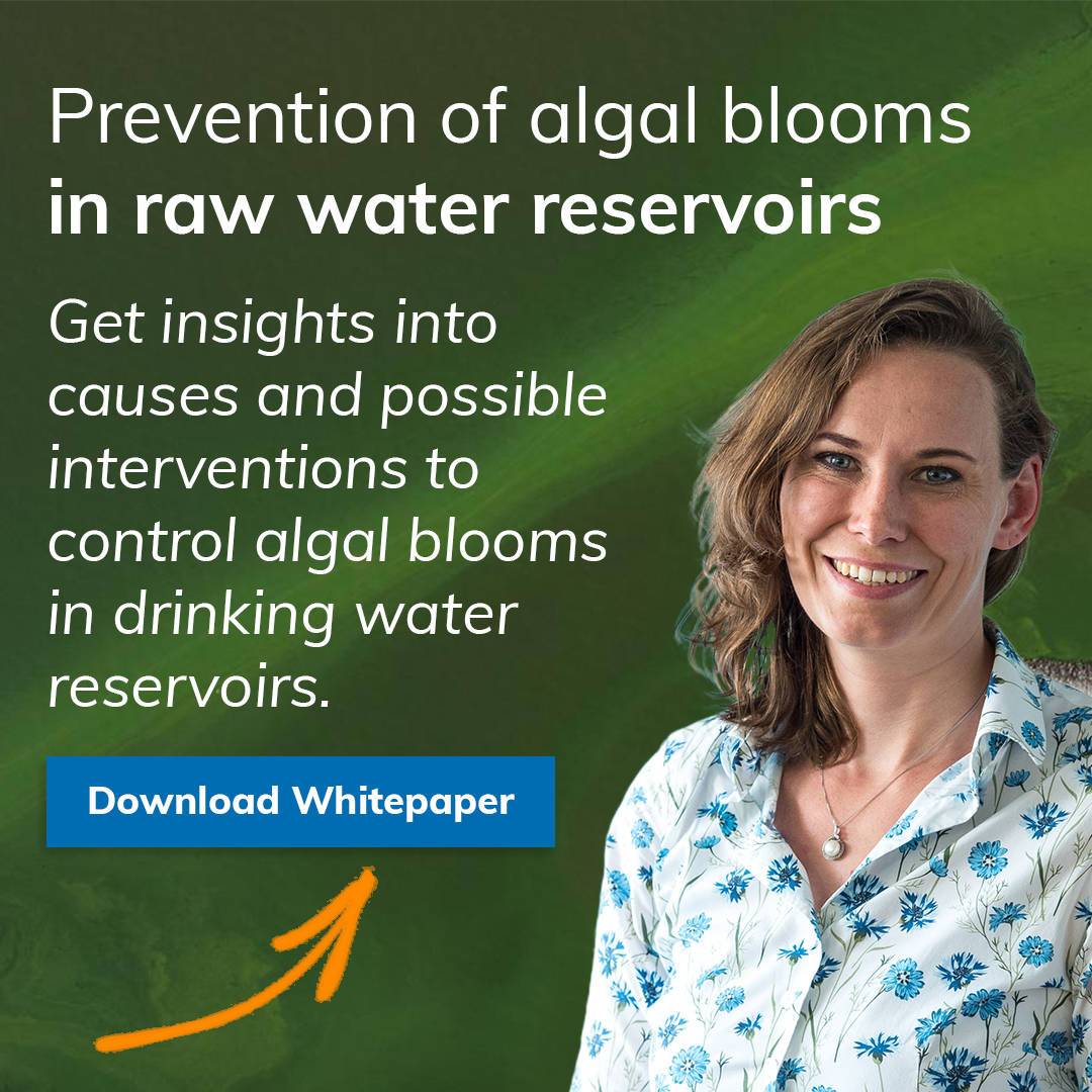Prevention of algal blooms in raw water resrvoirs