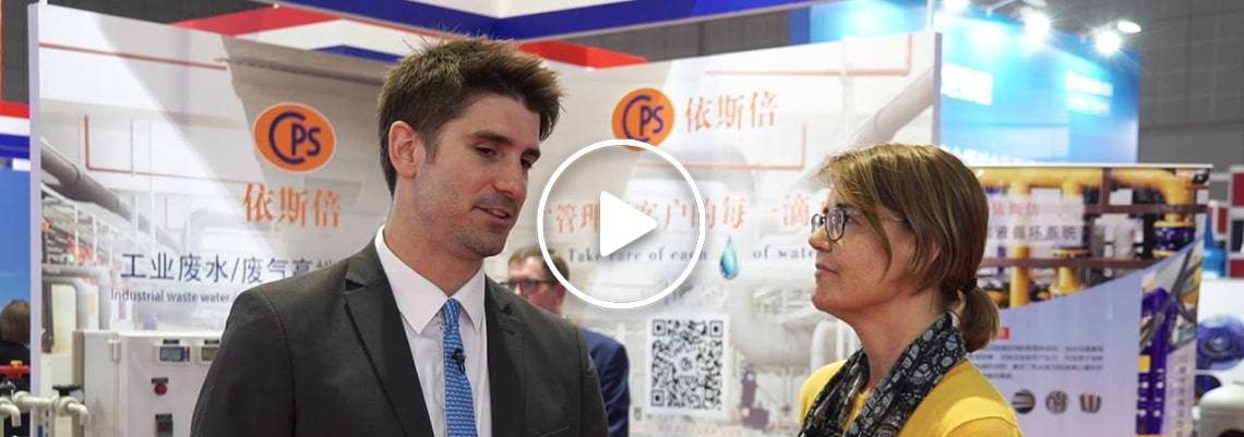 Anne te Velde discusses Dutch water technology at Aquatech China 2018
