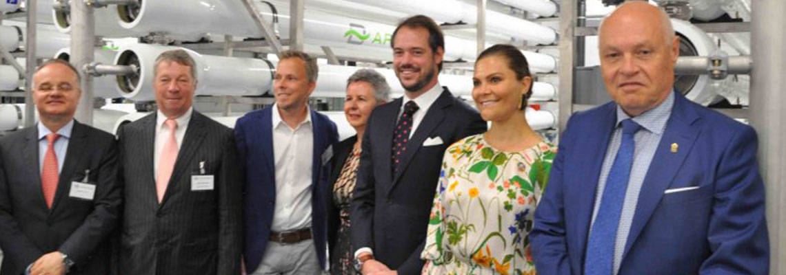 Self-adapting water plant in Sweden a European first