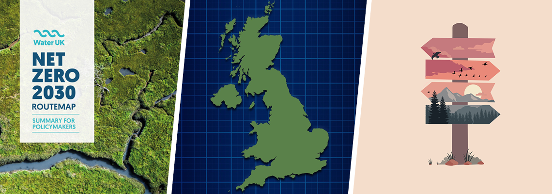 Route map to zero carbon for UK water